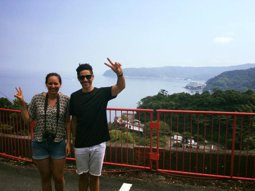 us in front of atami museum
